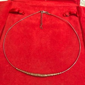 Sterling silver Cable Omega Necklace adjustable